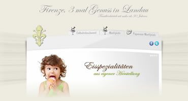 WebdDesign - Eiscafe Firenze